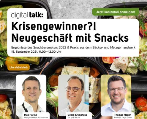 Digital Talk zum Snack Barometer 2022